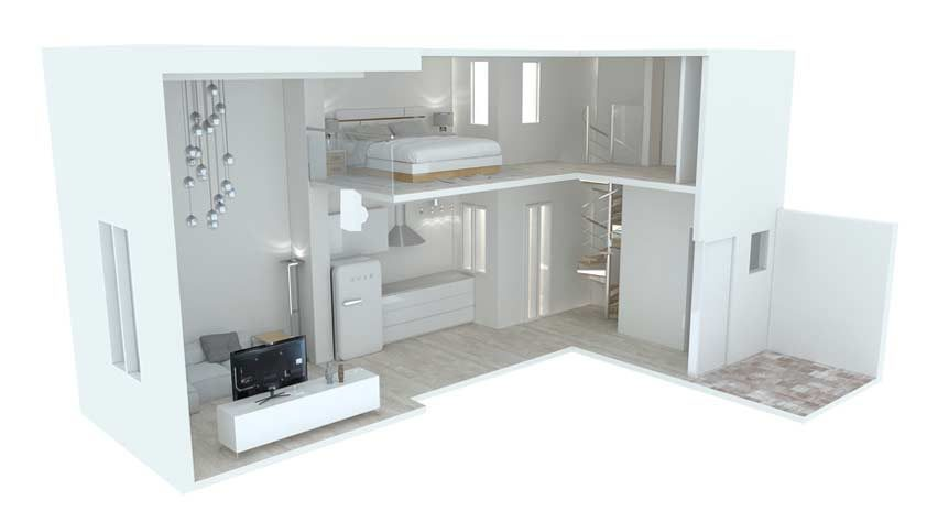 Interior, 2 alturas